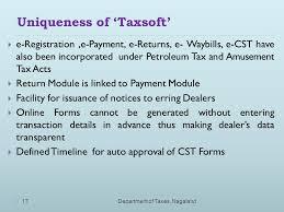 way bills online reforming the taxation system in nagaland through u201ctaxsoft