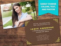 grad announcement cards graduation announcements print templates achieve graduation