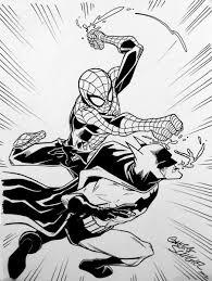 anatomy convention sketch spider man batman hatter