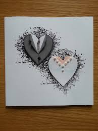 handmade wedding card from lotta s blog paper piecing hearts