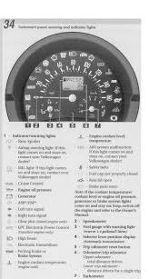 beetle convertible owners manual list of warning indicator lights