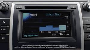 toyota car information toyota camry multi information display toyota cars youtube