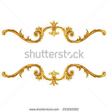 3d set ancient gold ornament on stock illustration 253292002
