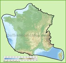 Geographical Map France Physical Map Physical Map Of France Ezilon Maps Atlas Of
