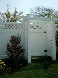 Backyard Arbor Double Virgin Vinyl Pergolas Liberty Fence U0026 Railing