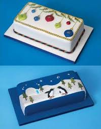 christmas rectangular cake design cake ideas pinterest cake