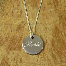 name pendant personalised silver name pendant by hersey silversmiths