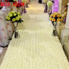 wedding decoration supplies milk white 3d petal aisle runner carpet 33 55 inch