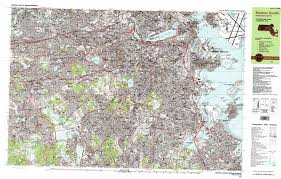Back Bay Boston Map by Boston South Topographic Map Ma Usgs Topo Quad 42071c1