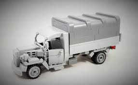 german opel blitz truck custom wwii opel blitz out of lego bricks brickfactory berlin