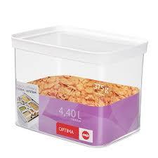 cuisine optima optima food storage container rectangular emsa