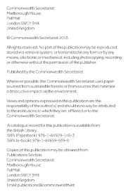 Carpenter Resume Commonwealth Trade Review 2015 Oecd Read Edition