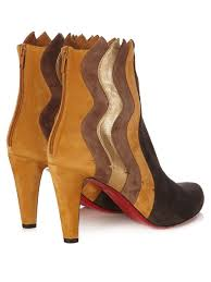 womens boots las vegas christian louboutin wavy 100mm panelled suede ankle boots taupe