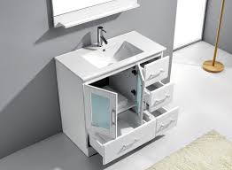 Single Bathroom Vanity Cabinets Virtu Usa Zola 36 Single Bathroom Vanity Cabinet Set In White