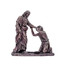 Christ Healing The Blind Christ Healing Blind Man Statue 10 5 U0027 U0027 The Catholic Company