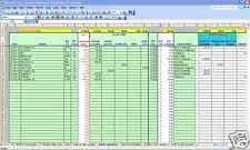 Account Spreadsheet Template Accounts Spreadsheet Software Ebay