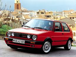 volkswagen old red vw golf i had a car like this in college stick 4 speed it