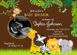 jungle themed baby shower create easy jungle theme baby shower invitations designs