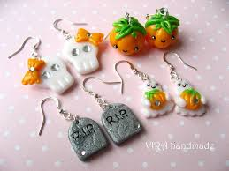 clay halloween earrings u2013 jewelry