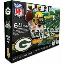 oyo sports 64 piece nfl end zone building block set green bay oyo sports 64 piece nfl end zone building block set green bay packers walmart com