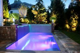 wonderful small inground rectangular pool with cement pavers also
