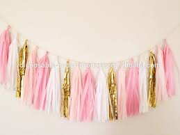 pink garland new pink and gold tassel garland pink theme party decor birthday