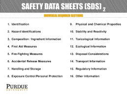 Ghs Safety Data Sheet Template Ghs Awareness By Purdue