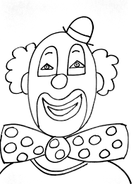 clown simple circus coloring pages coloring for kids