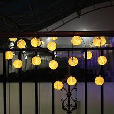 solar string lights innoo tech lantern solar string lights outdoor globe lights 14 4ft
