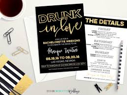 Hit The Floor Bachelor Party Dance - drunk in love bachelorette party invitation black u0026 gold
