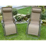 Metal Reclining Garden Chairs Deluxe Folding Chair Metal Recliner Deck Sun Lounger Garden Patio