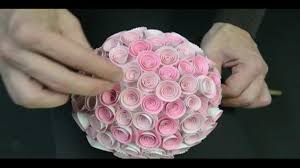Topiary Balls With Flowers - memory box paper rose topiary youtube