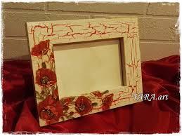 decoupage frame wooden frame home decor wall decor wood frame