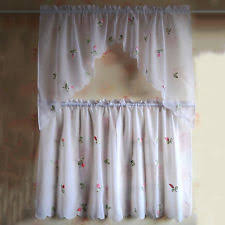 Cafe Tier Curtains Unbranded Country Floral Cafe Tier Curtains Ebay