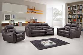 Brown Leather Recliner Sofa Set Becky Modern Leather Recliner Sofa