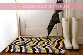 Making Braided Rugs How To Make A Diy Braided Chevron Rug Curbly