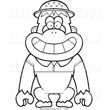 cute monkey clip art black and white clipart panda free