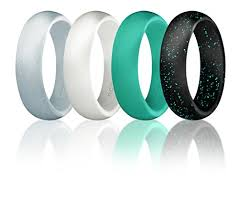 rubber wedding band silicone wedding ring for women by roq affordable silicone rubber