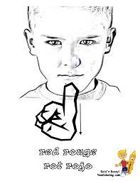 sign language alphabet yescoloring free asl bsl