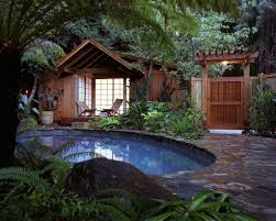Backyard Paradise Ideas Outdoors Cozy And Tranquil Tropical Pool And Backyard Retreat