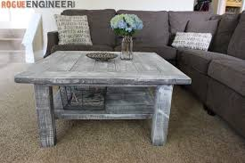 Free Simple End Table Plans by Square Coffee Table W Planked Top Free Diy Plans