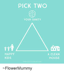 Clean House Meme - happy kids pick two your sanity a clean house sim pleasthat blo gcom