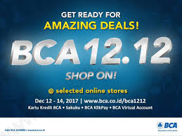 blibli bca 1212 bca promo 12 12 amazing deals discount up to 90 up to 50 di