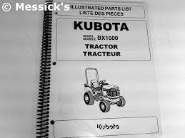 kubota b bx parts catalogs