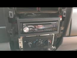 1997 2001 jeep cherokee xj stereo install pioneer deh x4800bt