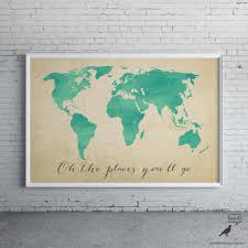 watercolor map oh the places you u0027ll go inspirational
