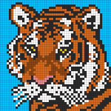 hama bead letter templates tiger face for perler or square stitch bead pattern perler beads tiger face for perler or square stitch perler bead pattern bead sprite