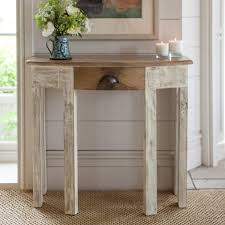 Distressed Sofa Table by Skinny Console Table Distress Painted Console Table Country Chic
