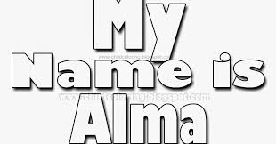 my name coloring pages my name is alma to coloring names coloring child coloring