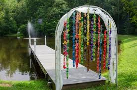 paper crane wedding arch not quite 1000 origami cranes but